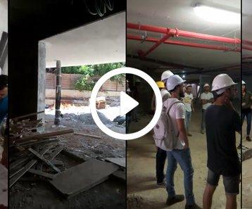 סיור באתר בנייה - המחלקה להנדסת בניין שנקר הנדסאים