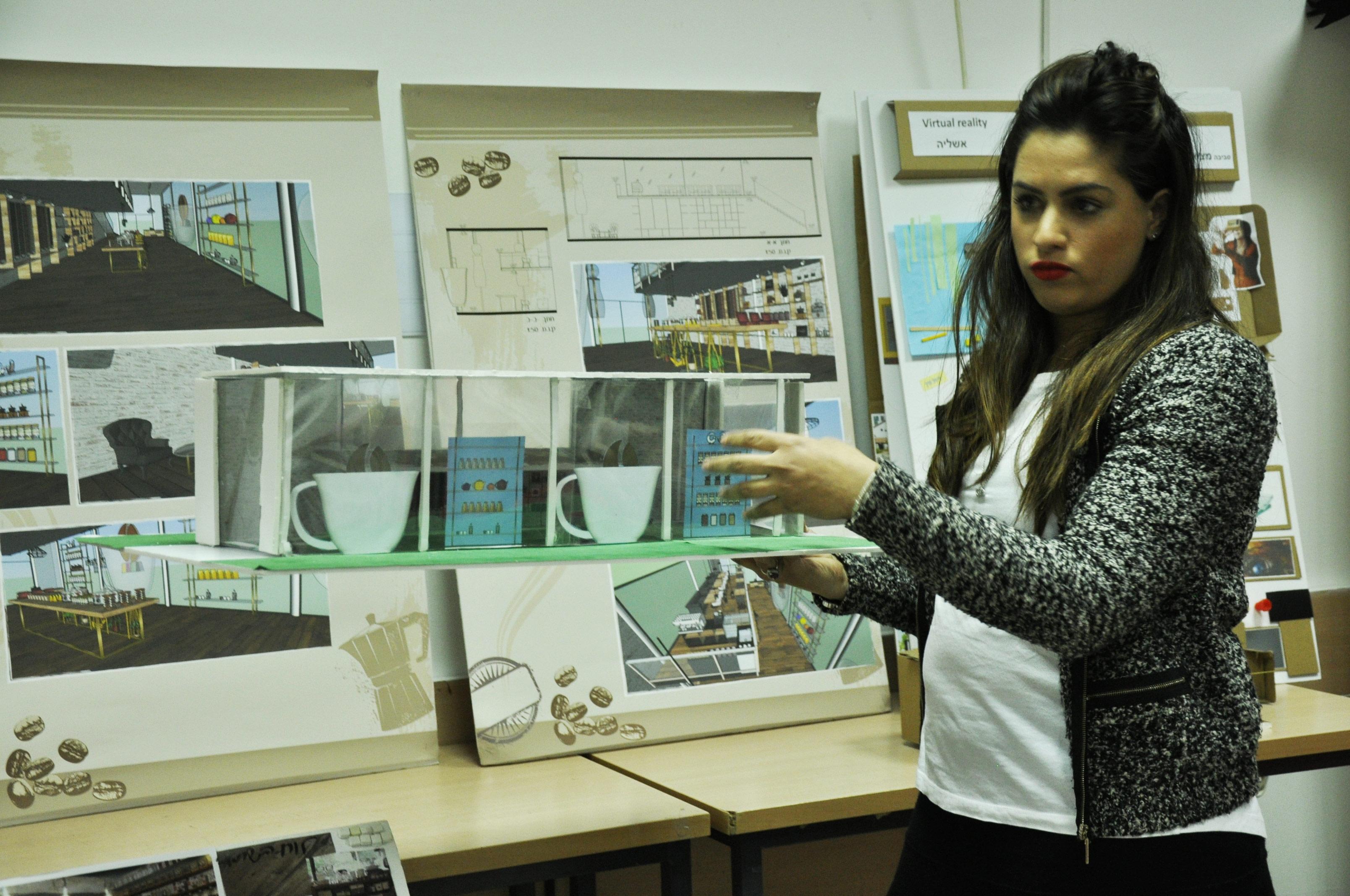 עבודות סטודנטים - קורס עיצוב פנים בשנקר הנדסאים