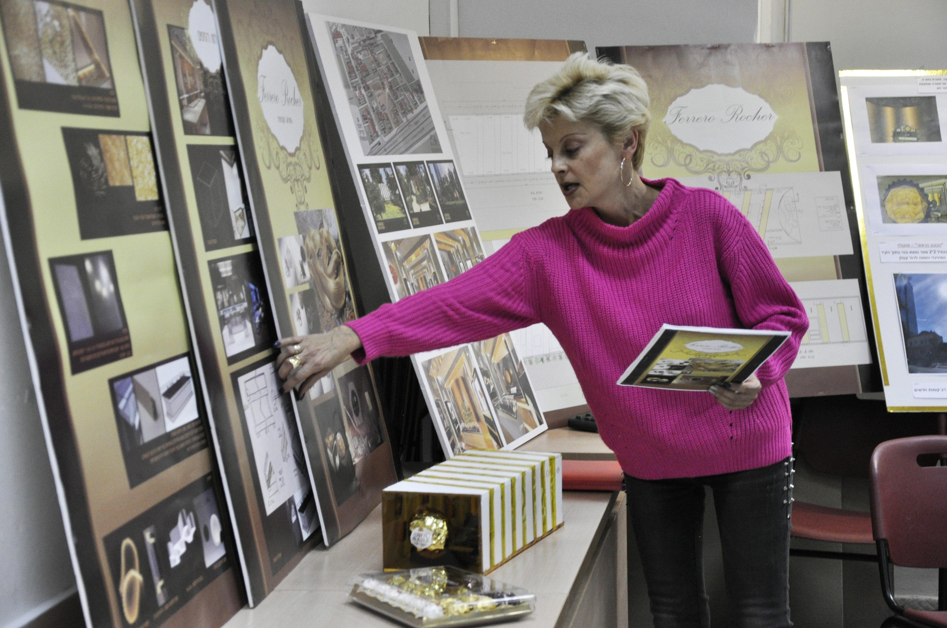 אירה רוזליו - עיצוב חנות פררו רושה בשרונה, קורס עיצוב פנים שנקר הנדסאים