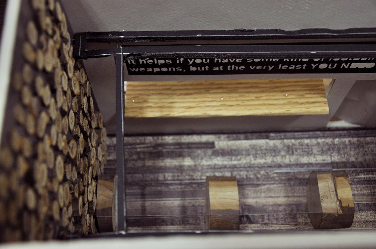 סיגל מגישה - קונספט עיצוב פנים למרכז המבקרים של בירה אלכסנדר - שנקר הנדסאים