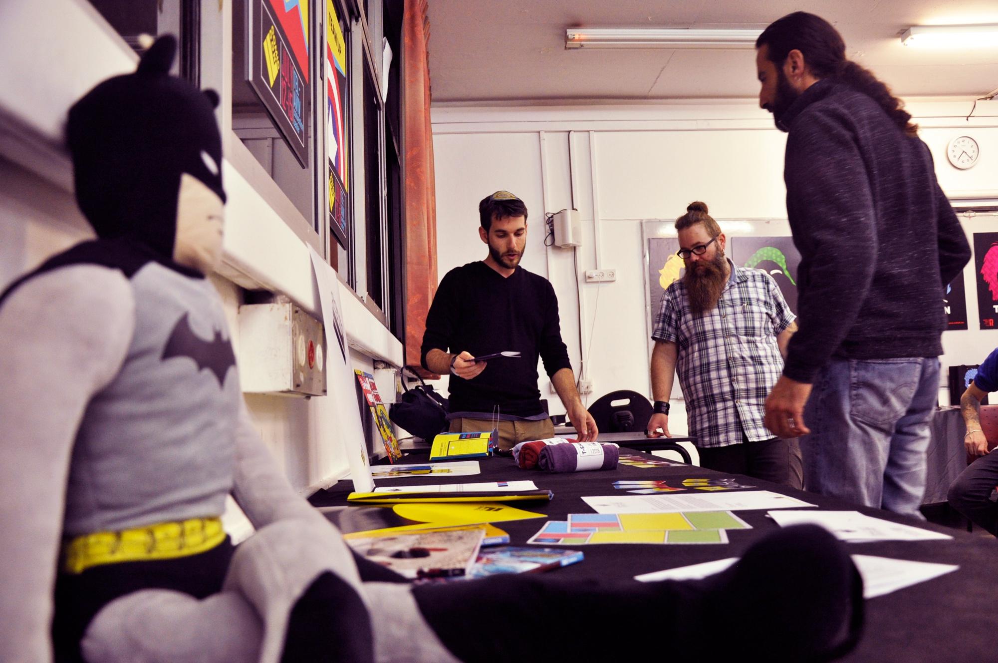 תצוגת עבודות קורס עיצוב גרפי, צילום: מאיה לוי - שנקר הנדסאים