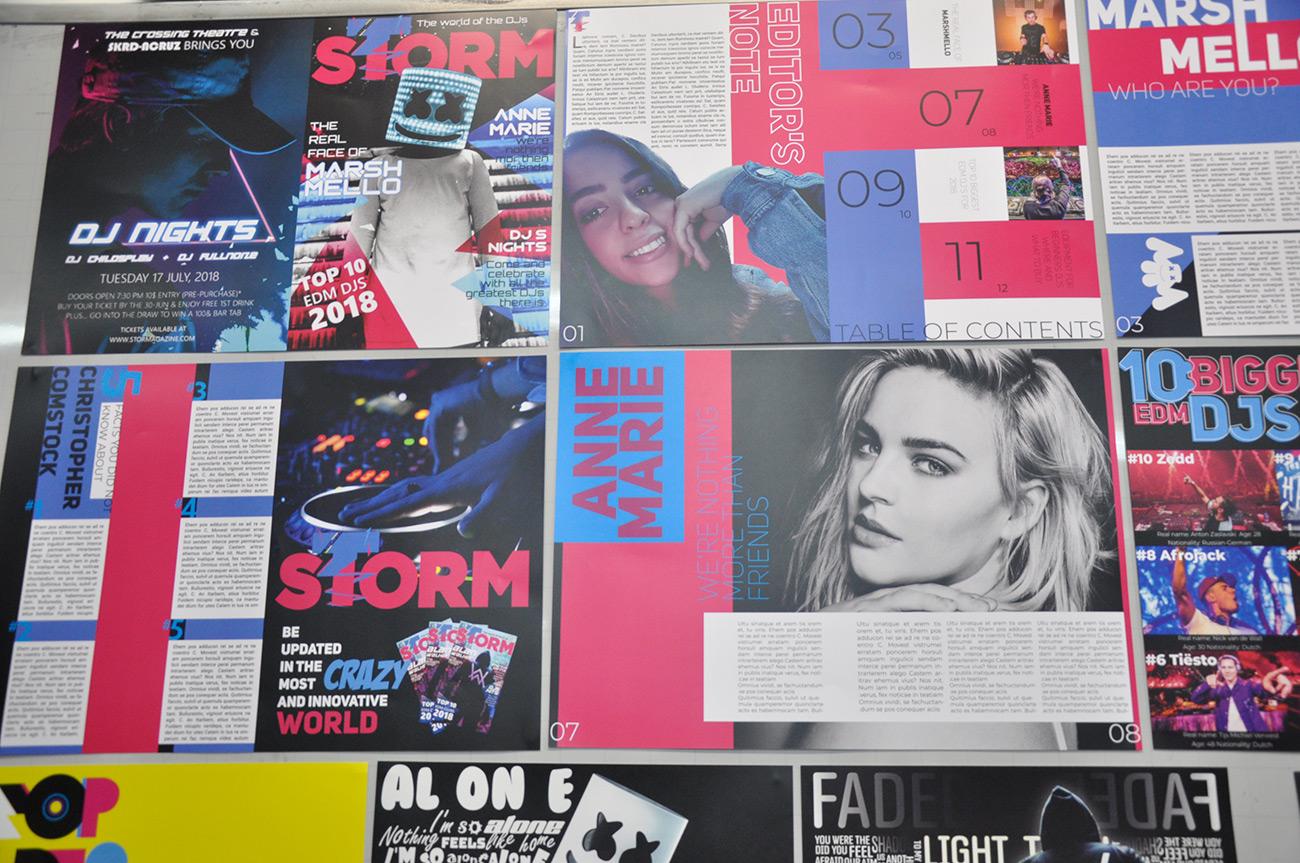 עבודות סטודנטים בקורס טיפוגרפיה - הנדסאי עיצוב מדיה. צילום מאיה לוי - שנקר הנדסאים